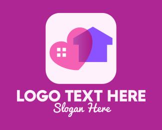 House Hunting - Heart House App logo design