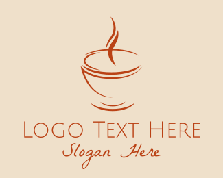 Coffee - Brown Cuppa Steam logo design