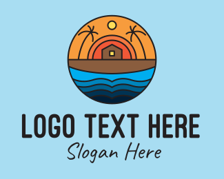 Resort - Beach House Resort logo design