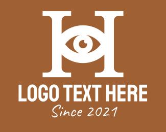 Visionary - White Eye Letter H logo design