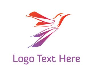 Hummingbird - Red Hummingbird logo design
