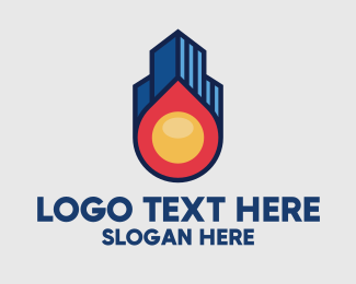 Skyline - Fireball Property Skyline logo design