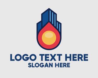 Fireball - Fireball Property Skyline logo design