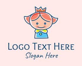 Little - Little Child Princess logo design