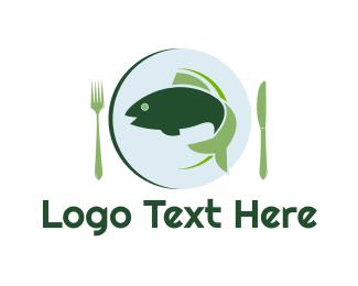 Dish - Fish Dish logo design