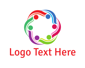Volunteer - Colorful Community logo design