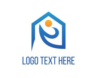 Resort - Beach House logo design