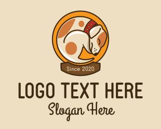 Dog Food - Sleeping Dog Vet  logo design