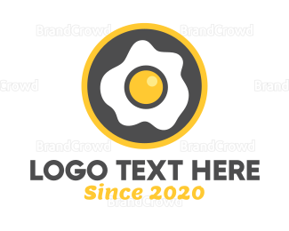 Brunch - Fried Egg Breakfast logo design