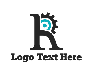 Cog - Engine Letter R logo design