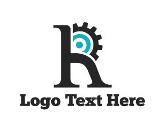 Cogwheel - Engine Letter R logo design