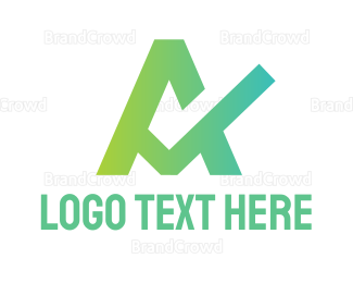 Checkbox - Gradient Check A logo design