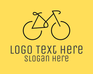Minimal Bicycle Bike Logo
