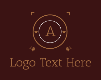 Brown And White - Brown Cricle Letter logo design