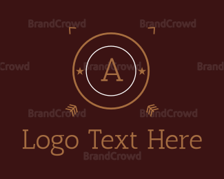 Arrows - Brown Cricle Letter logo design
