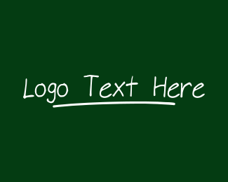 Lesson - Handwritten Chalk Wordmark logo design