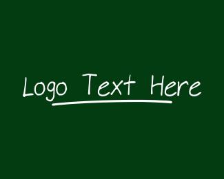 Handwritten - Handwritten Chalk Wordmark logo design