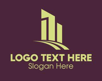 Premium - Premium Tower Cityscape logo design