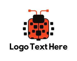 Chatbot - Square Ladybug logo design