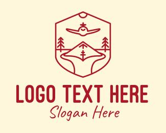 Tree - Red Airport Landing logo design