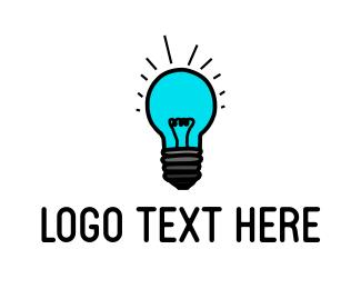 Flashlight - Blue Light  logo design
