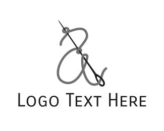 Seamstress - Thread & Needle logo design