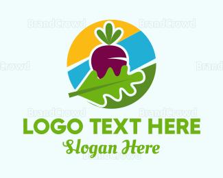 Beet - Radish Circle logo design
