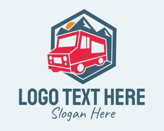 Trailer - Mountain Trailer Van logo design