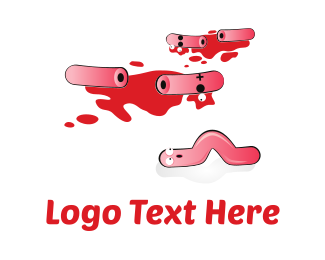 Blood - Sausages Crime Scene logo design