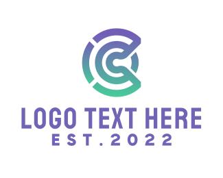Tech Letter C Outline Logo