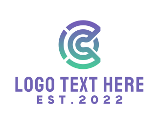 Sms - Modern C Outline logo design