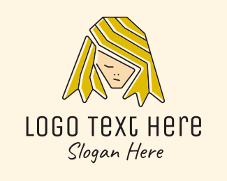 Hair Dye - Blonde Hair Person  logo design