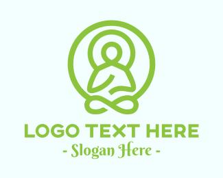 Healing - Green Buddha logo design