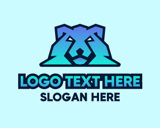 Cool - Modern Gradient Polar Bear logo design