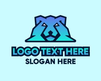 Gradient - Modern Gradient Polar Bear logo design