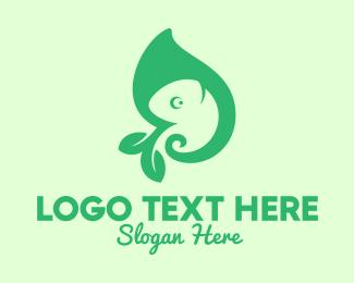 Salamander - Green Leaf Chameleon logo design