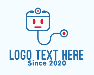 Med Tech - Medical Stethoscope Robot logo design
