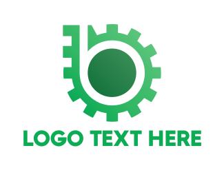Cogwheel - Green Gear logo design