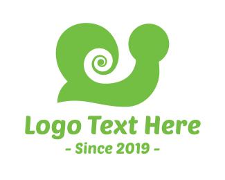 Hypnosis - Green Snail logo design
