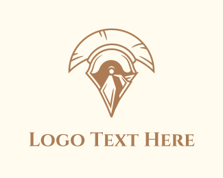 Tradition - Spartan Helmet logo design