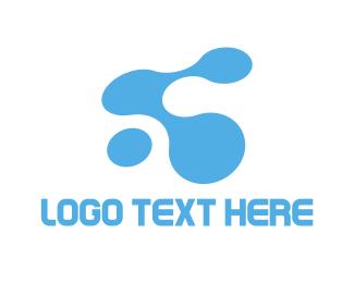 Link - Tech Water logo design