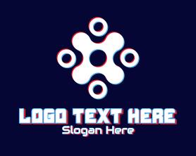 App - Futuristic Tech Glitch logo design