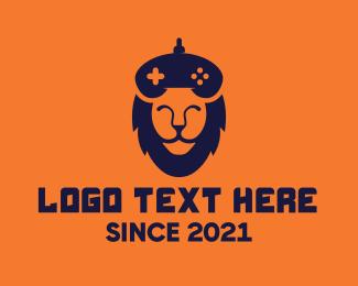 Game Controller - Lion Gaming Clan logo design
