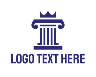 Real Estate - Pillar King logo design