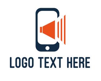 Speaker - Phone Sound logo design