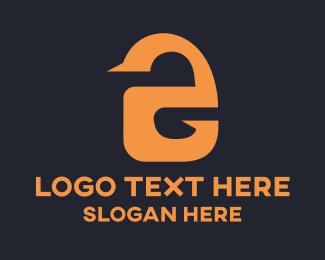 Numerical Digit - Orange Letter E Number 2 logo design