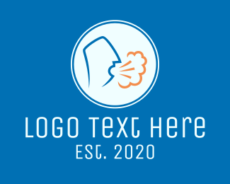 Spread - Coughing Person Transmission logo design