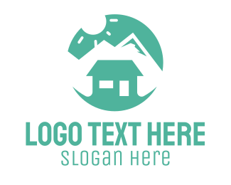 Rental - Peak Cabin logo design