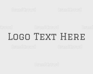 Burst - Hipster Serif Text logo design