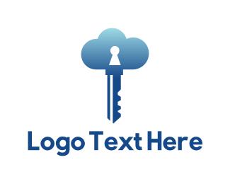 Secure - Cloud Security logo design